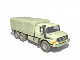 Mercedes-Benz Zetros military truck 3d model