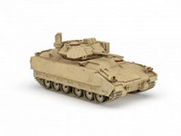 American Bradley fighting vehicle 3d model