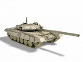 Russian T-90 main battle tank 3d model