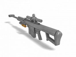 M107 barrett rifle 3d model