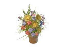 Arrange flowers in vase 3d model
