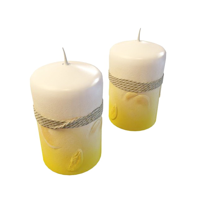 Christmas Candles 3d Model 3ds Max Files Free Download