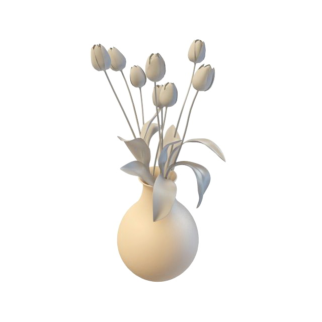 Ceramic Vase With Flowers 3d Model 3ds Max Files Free Download