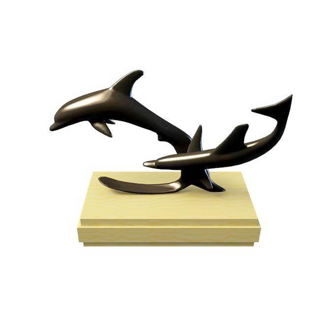 Dolphin desk decor 3d model 3ds max files free download for Decoration 3d model free download