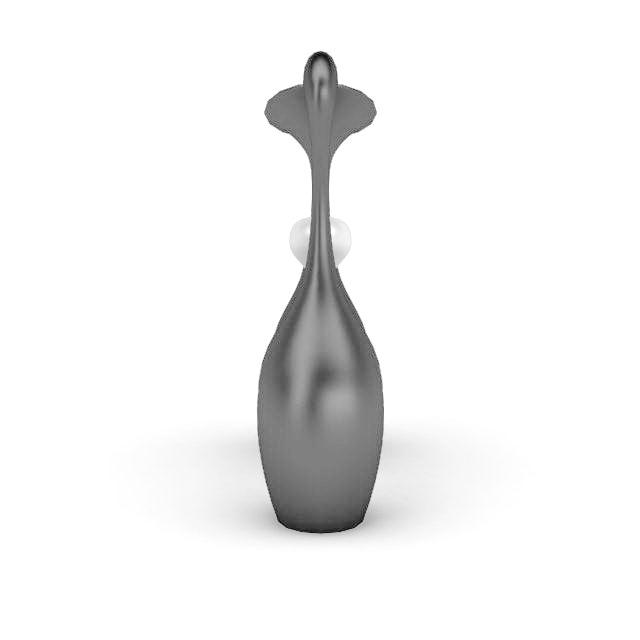 Modern abstract art vases 3d rendering
