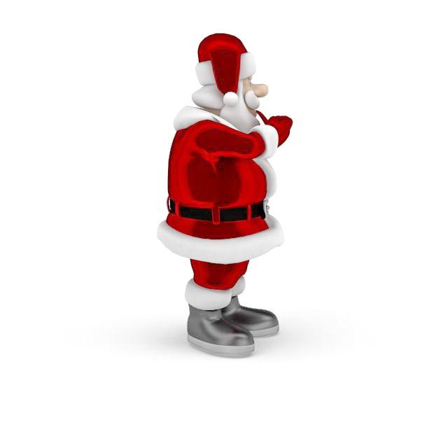 Santa Claus with tobacco pipe 3d model - CadNav