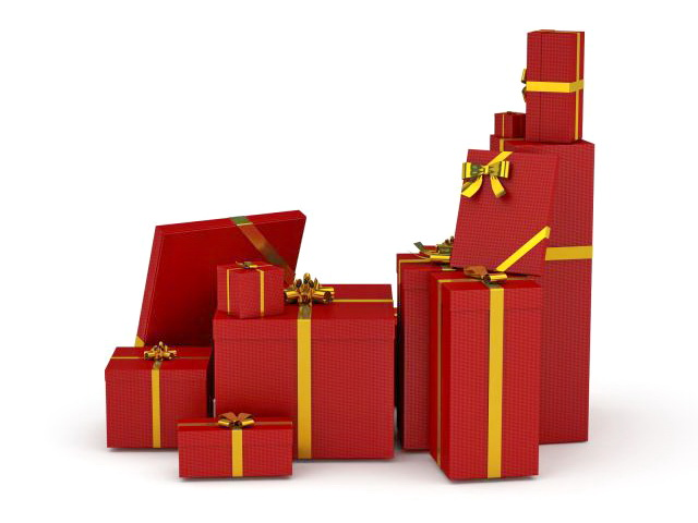 Red Gift Boxes 3d Model 3ds Max Files Free Download