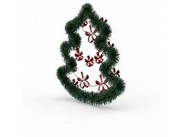 Xmas wreath 3d model