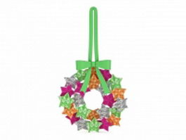 Hanging star wreath 3d model