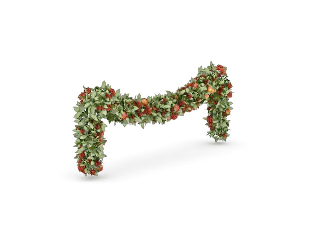 Christmas plant chain decoration 3d model 3ds max files for 3d model decoration