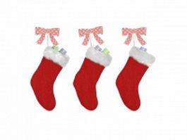 Christmas stocking craft 3d model