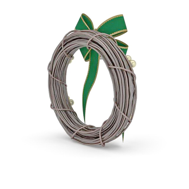 Wicker Wreath 3d Model 3ds Max Files Free Download