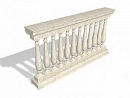 Marble railing baluster 3d model