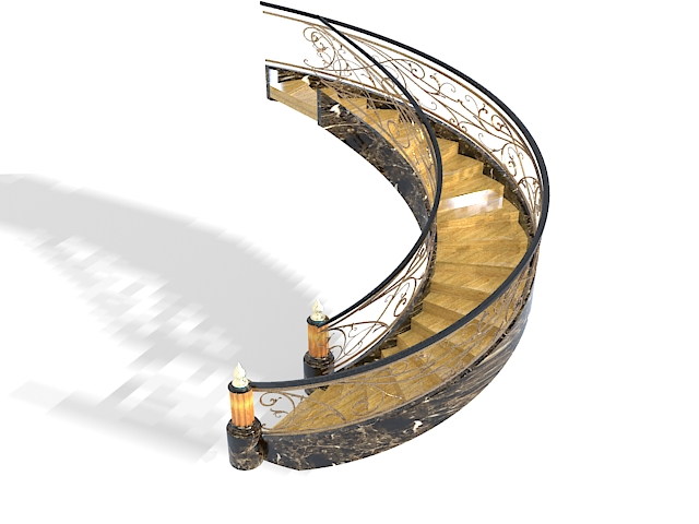 Luxurious Marble Stairs Design 3d Model 3ds Max Files Free