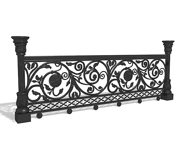 Antique Cast Iron Railings 3d Model 3ds Max Files Free