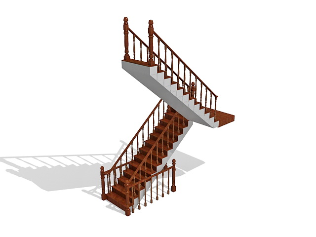 Two Flights Of Stairs 3d Model 3ds Max Files Free Download