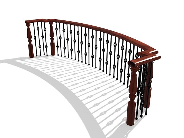 Iron balcony railing designs 3d model 3ds max files free for Balcony models