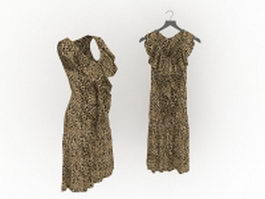 Leopard print dresses for women 3d model