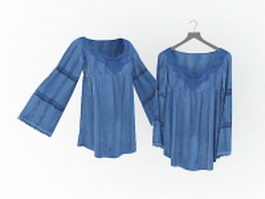 Shirt blouses for women 3d preview