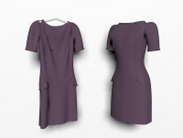Purple workwear dresses 3d model