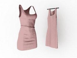 Fashion mini dresses 3d model