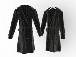 Black coat 3d model