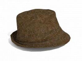 Vintage fedora hat 3d model