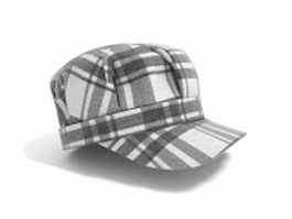 Plaid trucker hat 3d model
