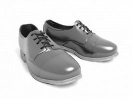 Black men's dress shoes 3d model