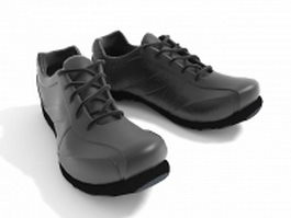 Black athletic shoes 3d model