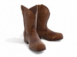 Vintage cowboy boots 3d model