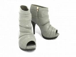 Open toe boots 3d model