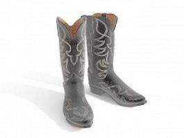 Womens cowboy boots 3d model