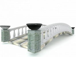 Chinese garden stone bridge 3d model