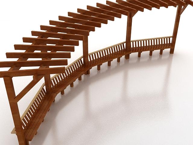 Wooden Pergola 3d Model 3ds Max Files Free Download