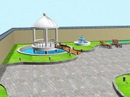 Backyard landscape ideas 3d model