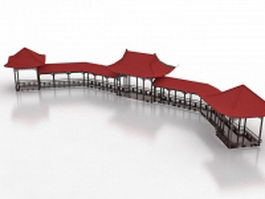 Chinese pavilions and terraces 3d model