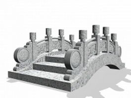 Carved stone bridge 3d model
