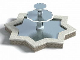 Star shaped fountain 3d model