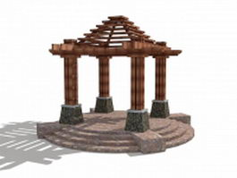 Backyard gazebo design 3d model