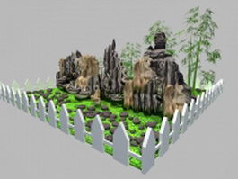 Rockery landscaping ideas 3d model