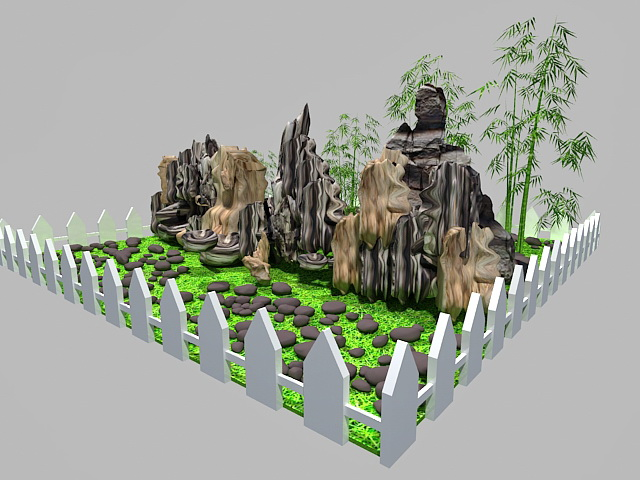 Rockery Landscaping Ideas 3d Model 3ds Max Files Free