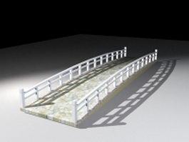 Garden stone bridge 3d model