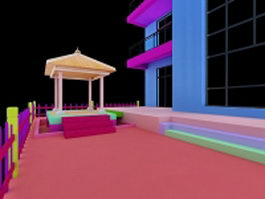 Balcony design ideas 3d model