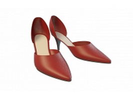 Red dress shoes 3d model