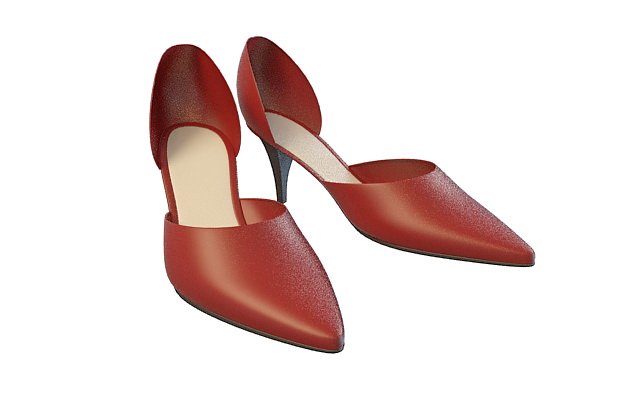 Red Dress Shoes 3d Model 3ds Max Files Free Download