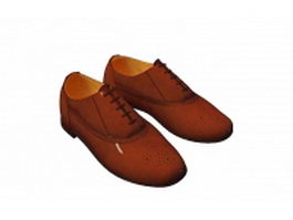 Men's oxford shoe 3d model