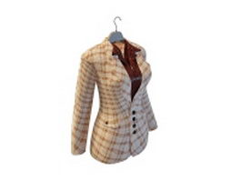 Women skirt suits 3d model