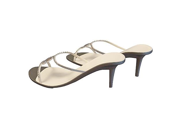 High-heeled sandal 3d rendering