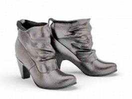 Short boots for women 3d model